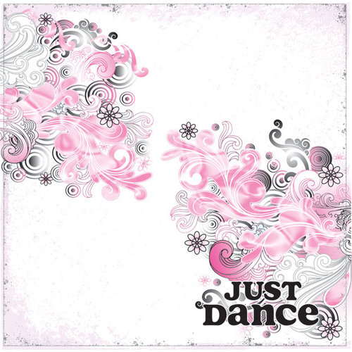 Creative Imaginations - Dance Collection - 12 x 12 Paper with Foil Accents - Just Dance