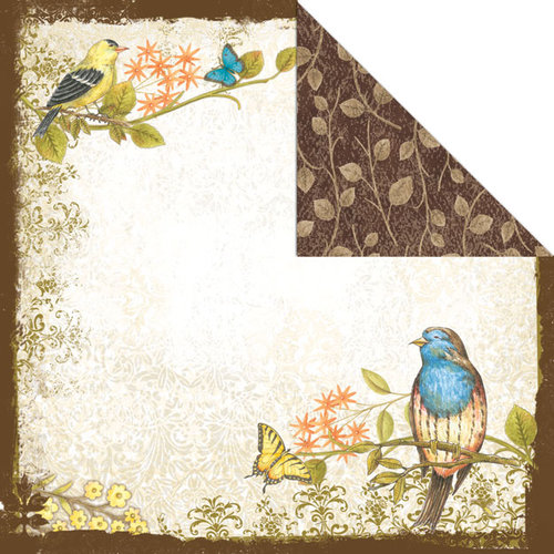 Creative Imaginations - Song Birds Collection - 12 x 12 Double Sided Paper - Song Birds
