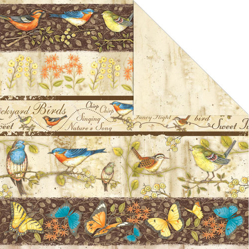 Creative Imaginations - Song Birds Collection - 12 x 12 Double Sided Paper - Nature's Song