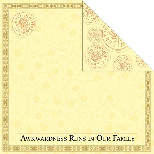 Creative Imaginations - Awkward Family Photos Collection - 12 x 12 Double Sided Paper - Awkward Family