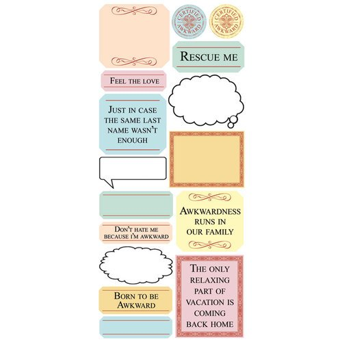 Creative Imaginations - Awkward Family Photos Collection - Cardstock Stickers - Rescue Me