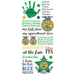 Creative Imaginations - FFA Collection - Clear Stickers - Green Hand