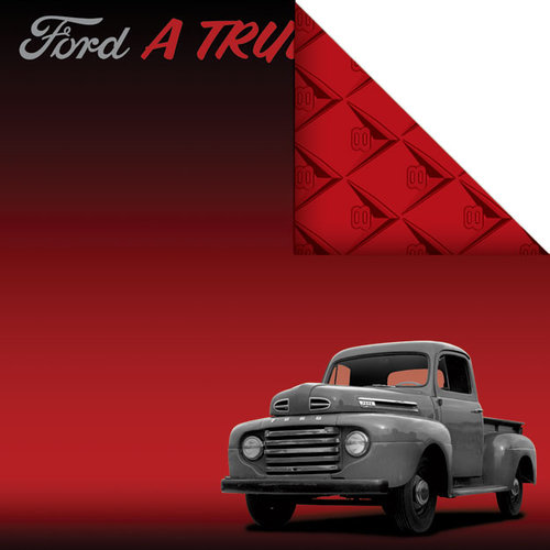 Creative Imaginations - Ford Enthusiast Collection - 12 x 12 Double Sided Paper - 50's Classic