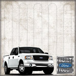 Creative Imaginations - Ford Enthusiast Collection - 12 x 12 Paper with Foil Accents - Built Tough