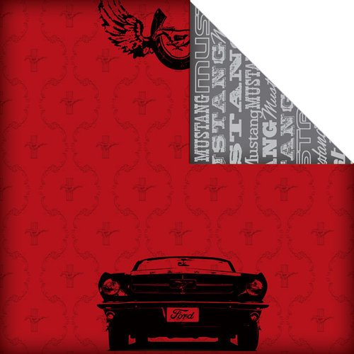 Creative Imaginations - Ford Enthusiast Collection - 12 x 12 Double Sided Paper - Mustang