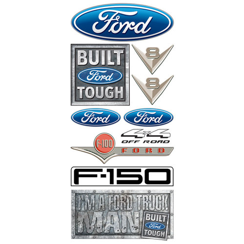 Creative Imaginations - Ford Enthusiast Collection - Clear Stickers - Ford Logo