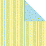 Creative Imaginations - Make a Wish Collection - 12 x 12 Double Sided Paper - Party Stripe