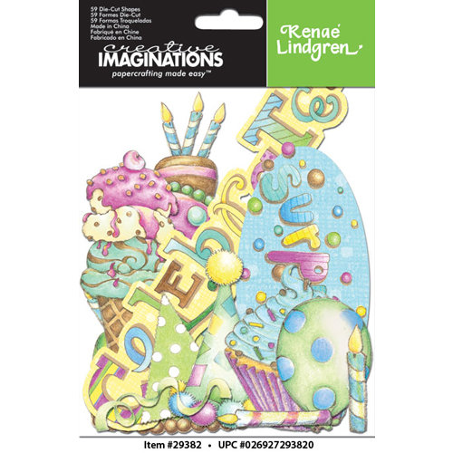 Creative Imaginations - Make a Wish Collection - Die Cut Cardstock Pieces