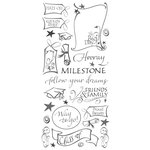 Creative Imaginations - Congrats Grad Collection - Clear Stickers