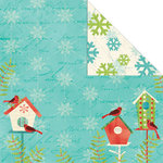 Creative Imaginations - Holiday Joy Collection - Christmas - 12 x 12 Double Sided Paper - Holiday House