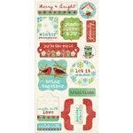 Creative Imaginations - Holiday Joy Collection - Christmas - Cardstock Stickers - Joyful