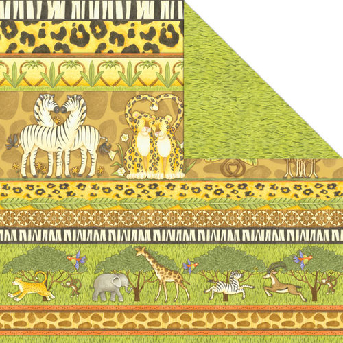 Creative Imaginations - Wild Side Collection - 12 x 12 Double Sided Paper - Wild Border