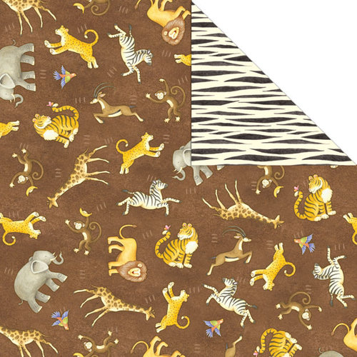 Creative Imaginations - Wild Side Collection - 12 x 12 Double Sided Paper - Going Wild