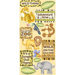 Creative Imaginations - Wild Side Collection - Cardstock Stickers - Adventure