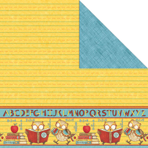 Creative Imaginations - Back 2 School Collection - 12 x 12 Double Sided Paper - Smart Owlic