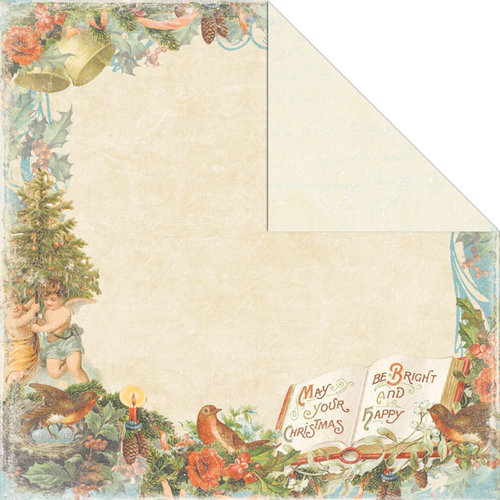 Creative Imaginations - Rejoice Collection - Christmas - 12 x 12 Double Sided Paper - Merry and Bright