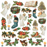 Creative Imaginations - Rejoice Collection - Christmas - Die Cut Cardstock Pieces