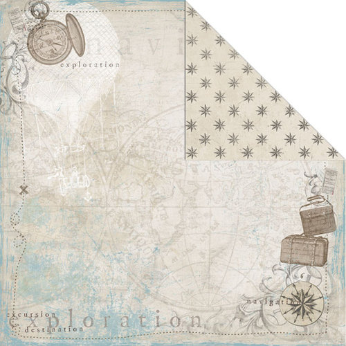 Creative Imaginations - Gallivant Collection - 12 x 12 Double Sided Paper - Excursion