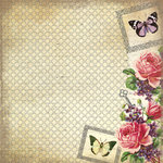 Creative Imaginations - Assemblage Collection - 12 x 12 Paper with Varnish Accents - Vintage Rose