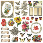 Creative Imaginations - Assemblage Collection - Die Cut Cardstock Pieces