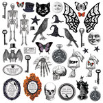 Creative Imaginations - Hallow's Eve Collection - Halloween - Die Cut Cardstock Pieces