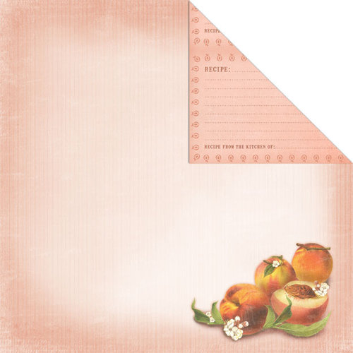 Creative Imaginations - Family Garden Collection - 12 x 12 Double Sided Paper - Peach