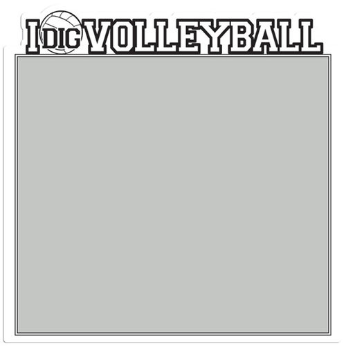 Creative Imaginations - Volleyball Collection - 12 x 12 Die Cut Paper - I Dig Volleyball