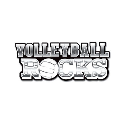 Creative Imaginations - Volleyball Collection - 3 Dimensional Title Stickers with Foil Accents