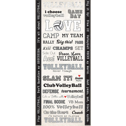Creative Imaginations - Volleyball Collection - Cardstock Stickers