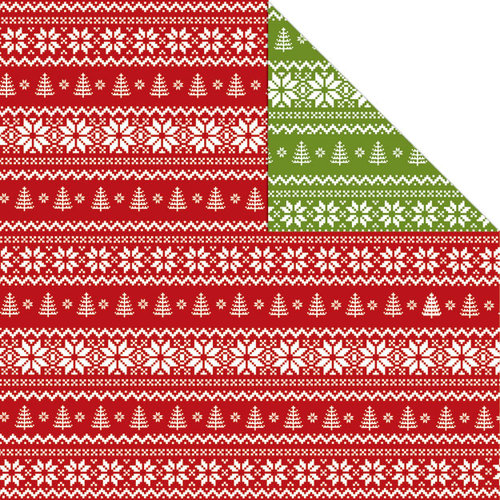 Creative Imaginations - Holly Jolly Collection - Christmas - 12 x 12 Double Sided Paper - Holiday Sweater