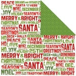 Creative Imaginations - Holly Jolly Collection - Christmas - 12 x 12 Double Sided Paper - Greetings