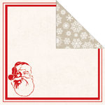 Creative Imaginations - Holly Jolly Collection - Christmas - 12 x 12 Double Sided Paper - Santa