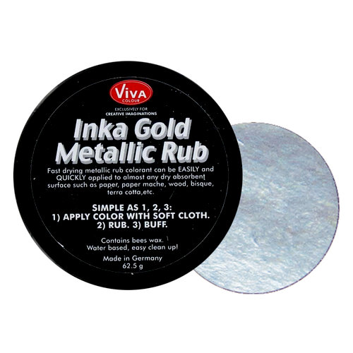Splash of Color - Viva Colour - Inka Gold Metallic Rub - Silver