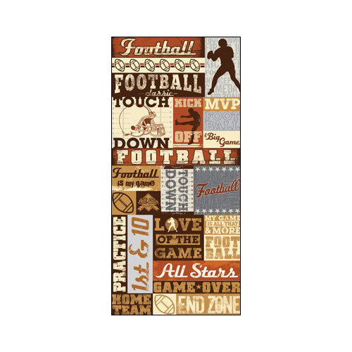 Splash of Color - All Football Collection - Cardstock Stickers