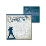 Splash of Color - All Baseball Collection - 12 x 12 Double Sided Paper - All Baseball