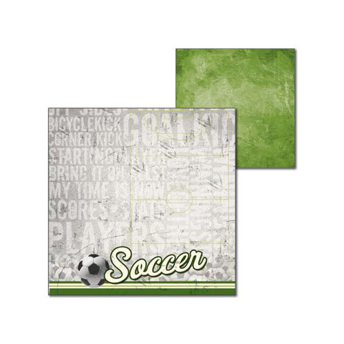 Splash of Color - All Soccer Collection - 12 x 12 Double Sided Paper - All Soccer