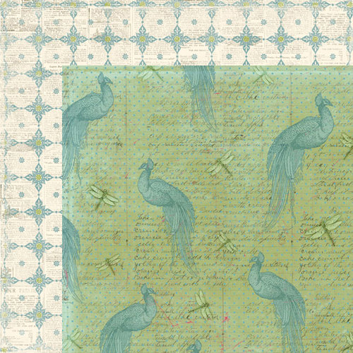 Creative Imaginations - Cotswald Manor Collection - 12 x 12 Double Sided Paper - Romantic
