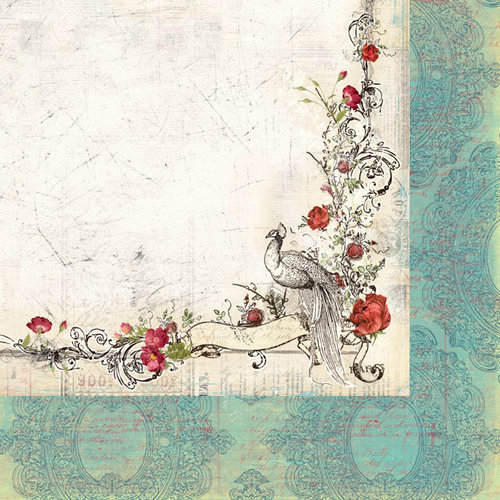 Creative Imaginations - Cotswald Manor Collection - 12 x 12 Double Sided Paper - Sentimental