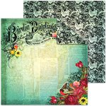 Splash of Color - Le Jardin Collection - 12 x 12 Double Sided Paper - Birdie Darling