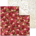 Splash of Color - Le Jardin Collection - 12 x 12 Double Sided Paper - Roses are Red