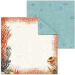 Splash of Color - Shell Seeker Collection - 12 x 12 Double Sided Paper - Sea Horse