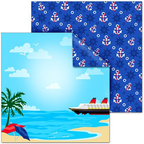 Splash of Color - Magic Cruise Collection - 12 x 12 Double Sided Paper - Cruising
