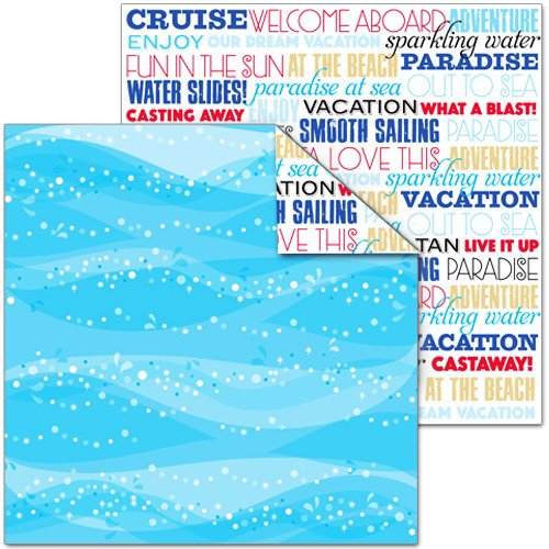 Splash of Color - Magic Cruise Collection - 12 x 12 Double Sided Paper - At Sea