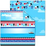 Splash of Color - Magic Cruise Collection - 12 x 12 Double Sided Paper - Bon Voyage
