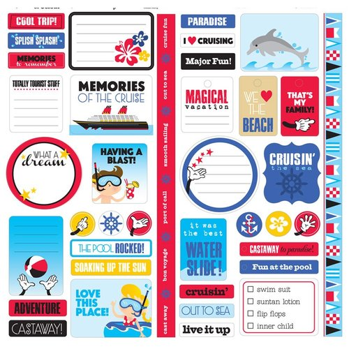 Splash of Color - Magic Cruise Collection - 12 x 12 Cardstock Stickers