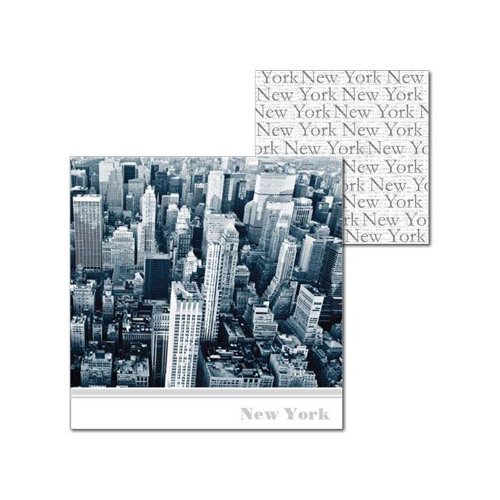Splash of Color - New York Collection - 12 x 12 Double Sided Paper - View