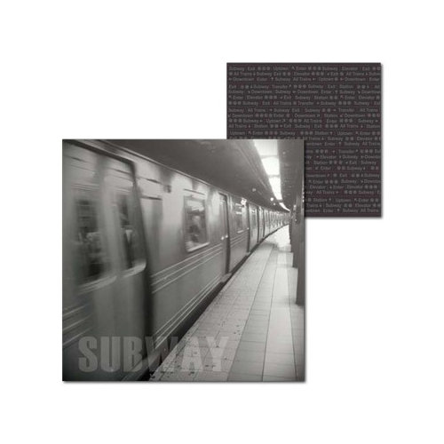 Splash of Color - New York Collection - 12 x 12 Double Sided Paper - Subway