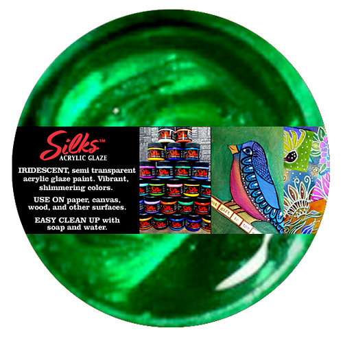 Splash of Color - Luminarte - Silks - Acrylic Glaze - Mallard Green