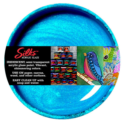 Splash of Color - Luminarte - Silks - Acrylic Glaze - Mediterranean Blue