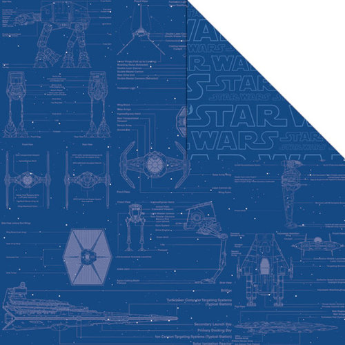 Creative Imaginations - Star Wars Collection - 12 x 12 Double Sided Paper - Blueprint